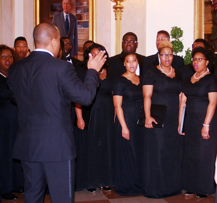 CSU Chorus singing in the White House