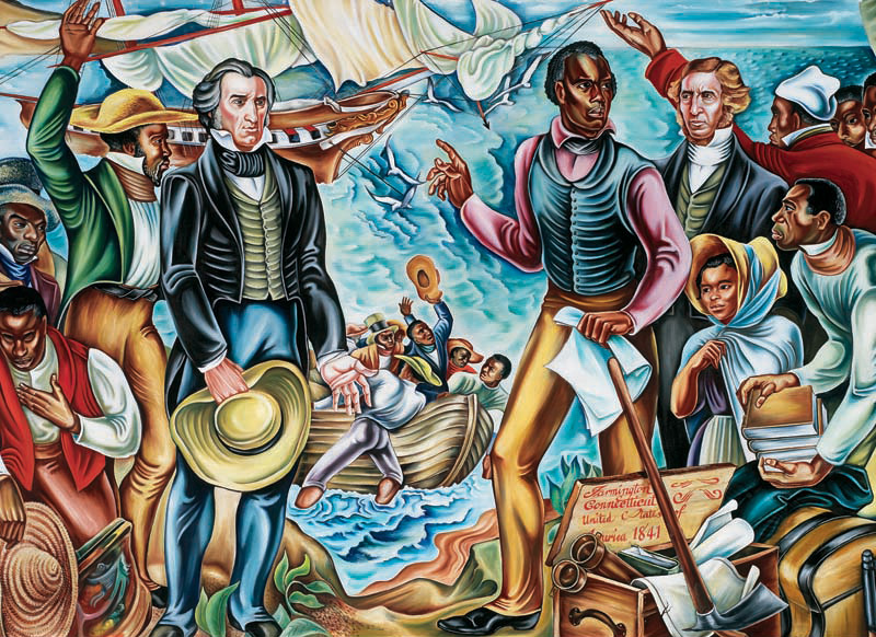 Hale Woodruff's <i>Amistad Mural No. 3, Back To Africa</i><br>Property of Talladega College