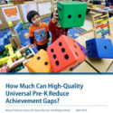 The Racial Gap in Reading and Mathematics Can Be Eliminated With Quality Pre-K Programs